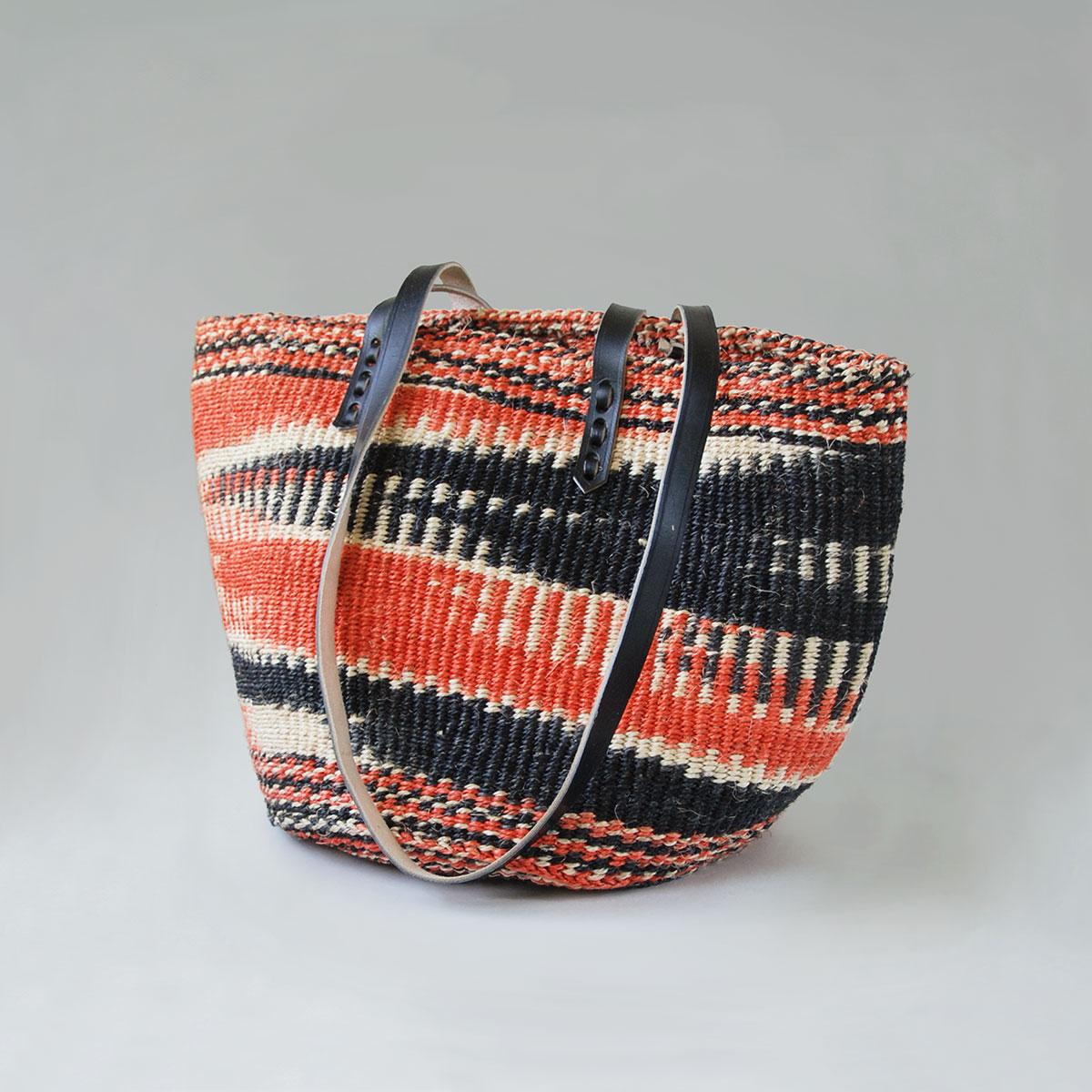 Black-white-orange-sisal-tote