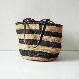 Black-natural-striped-sisal-tote