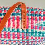 Multicoloured-pink-blue-sisal-tote-detail