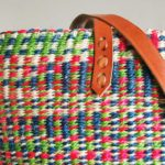 Multicoloured-pink-green-sisal-tote-detail
